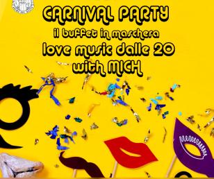 🎉 08.02.2018   Carneval Party - il buffet in maschera 🎭